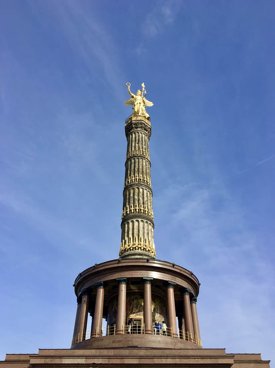Visitors can enjoy fantastic views from atop the Victory Column in Berlin.
