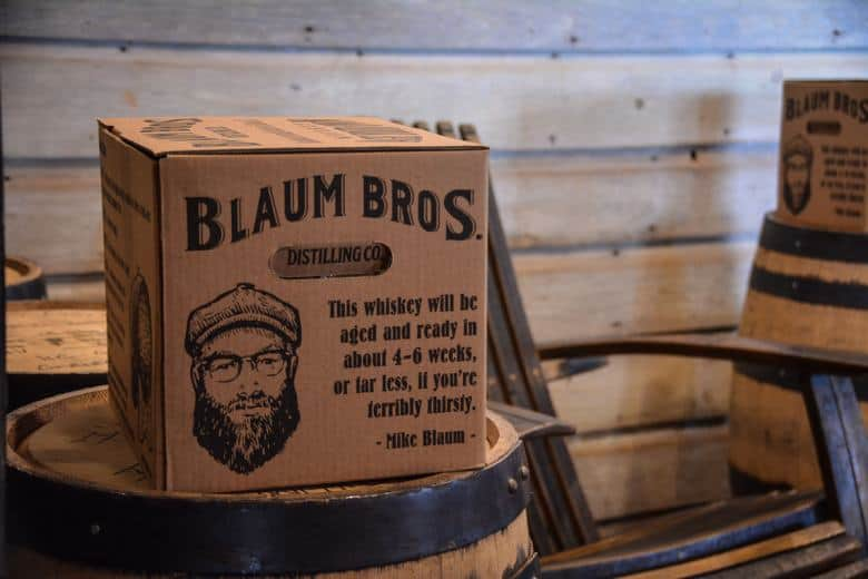 Blaum Bros is a young business just outside of Galena which has big plans to produce some of the best whiskeys and spirits in the US. Their good sense of humour is legendary already.