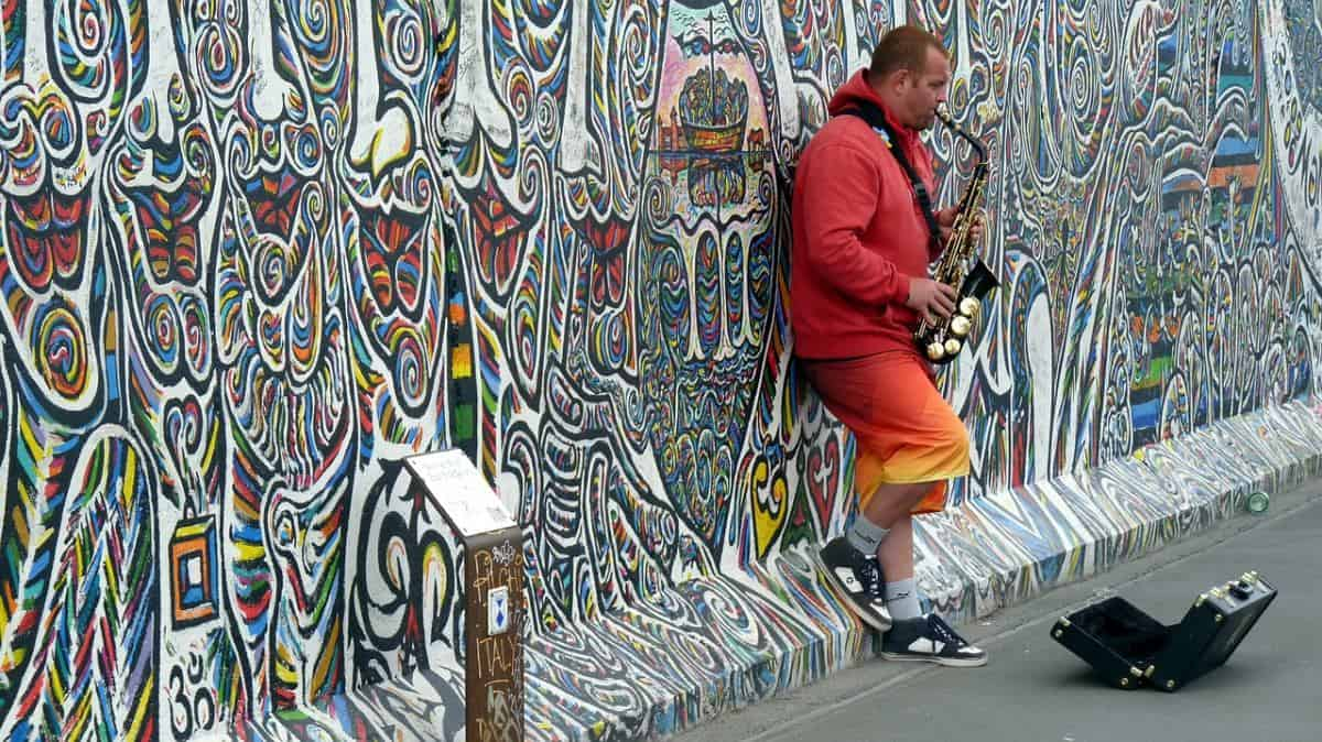 East Side Gallery is a long remaining stretch of the Berlin Wall that has been transformed by local and international artists into an open-air gallery.