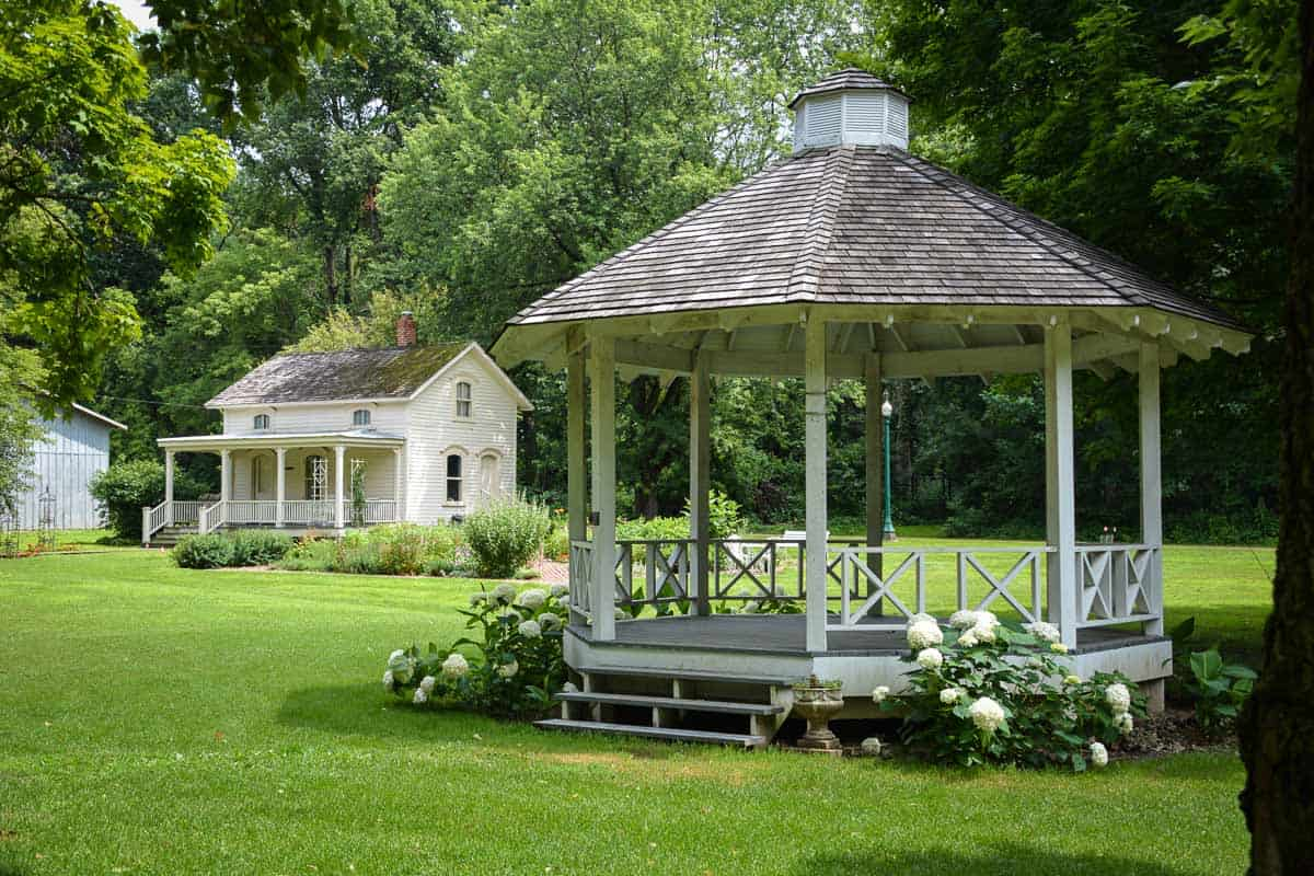 The romantic setting of Midway Village in Rockford makes it ideal for wedding receptions.