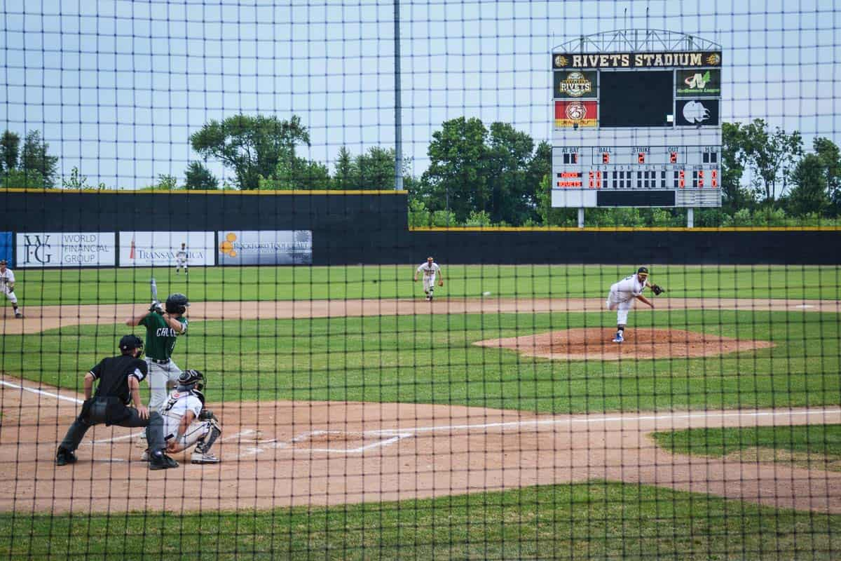 Rockford Rivets are a local baseball team with a loyal fanbase. Catching one of their games at the ballpark is good fun!
