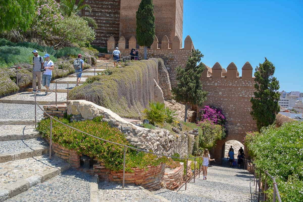 Every castle visit in Andalusia needs to be earned the hard way, by climbing the stairs to reach the top of the mountain. This is no different in Almería.