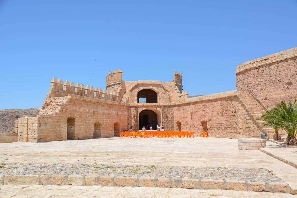 The most complete parts of the fortress are not Moorish but Christian and were built after the Reconquista. Today, the structures are used for events.