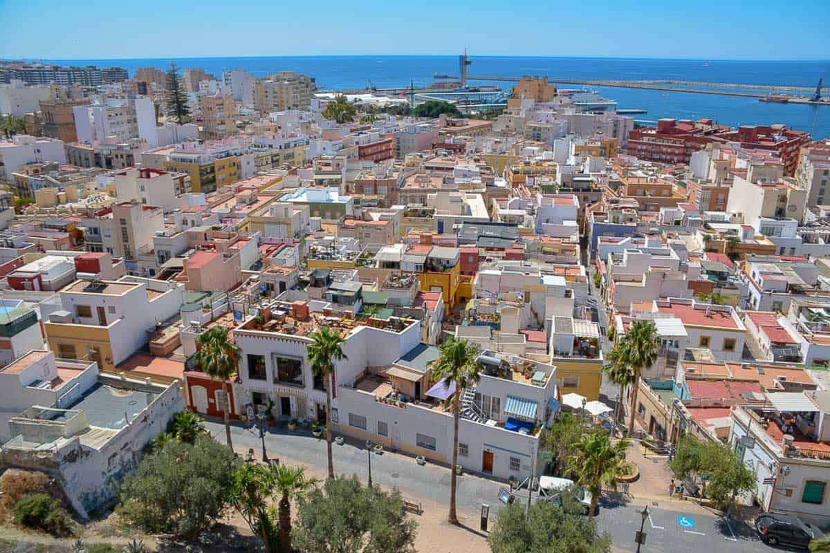 Almería with its predominantly flat rooftops has retained a lot of its Moorish roots and looks very different to the Baroque city centres of other Andalusian cities.