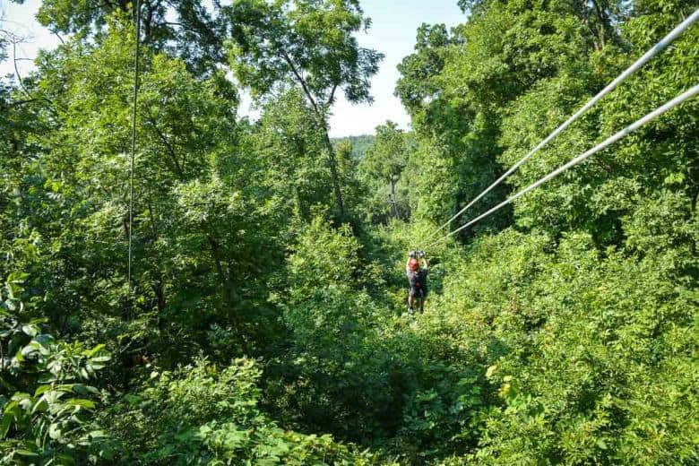 Zip-lining in the Galena area is great fun for anyone over 10 years of age.
