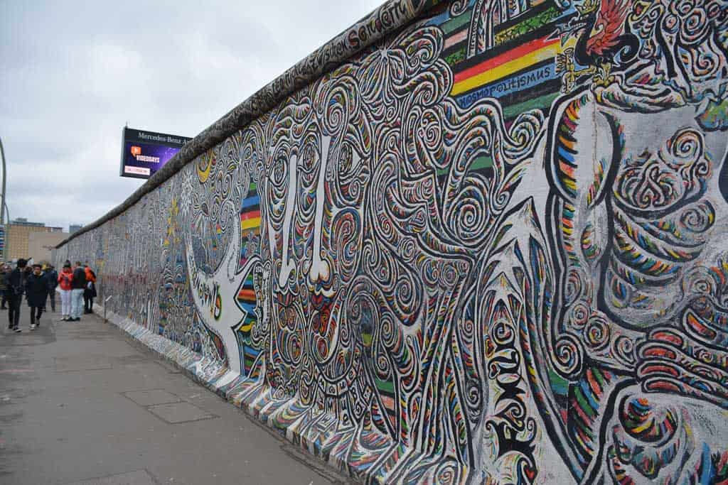 The East Side Gallery is one of the best known Berlin attractions. On it, artists from around the world have left their impressions on the political change just after the fall of the Berlin Wall.