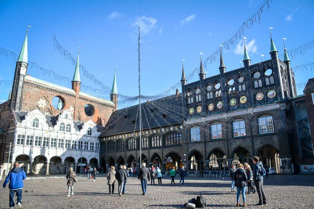 The market square with the town hall was the beating heart of Lübeck and the pride of the medieval city.