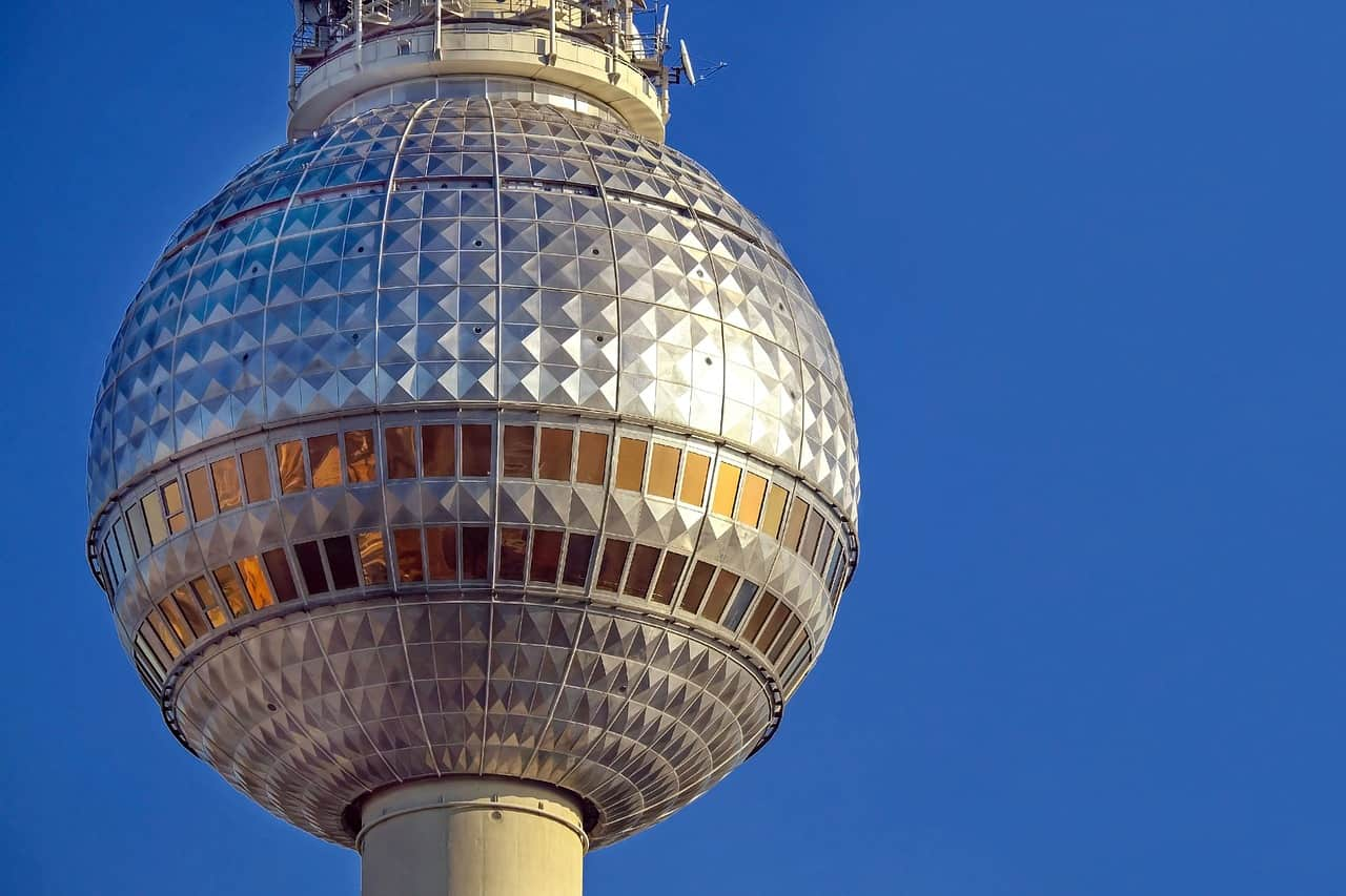 The Berlin TV tower is the tallest building in the city and offers dining with a view.