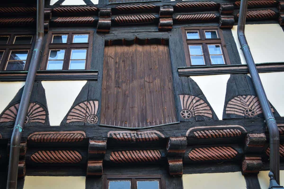There are many details on the timber-frame houses that you can discover as you stroll the narrow streets.