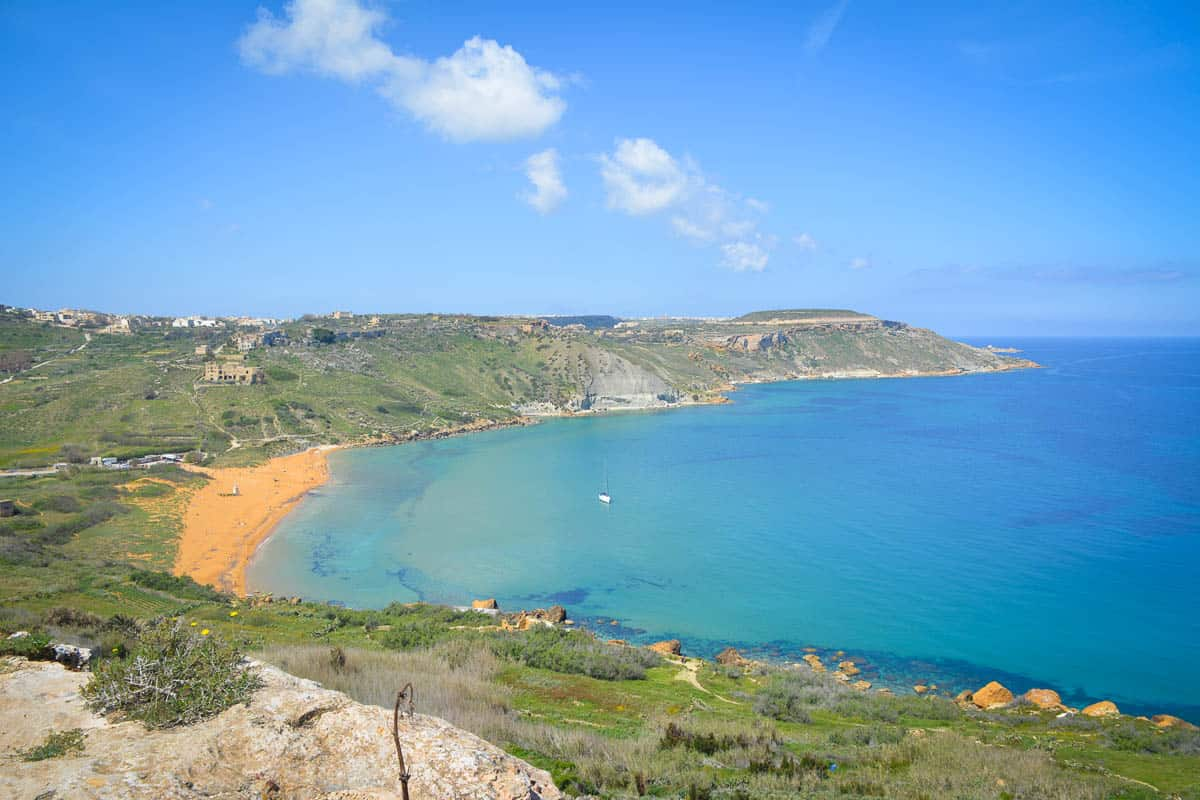 Ramla Bay is rumoured to be the most beautiful beach in Malta. Even in summer it does not get very crowded.