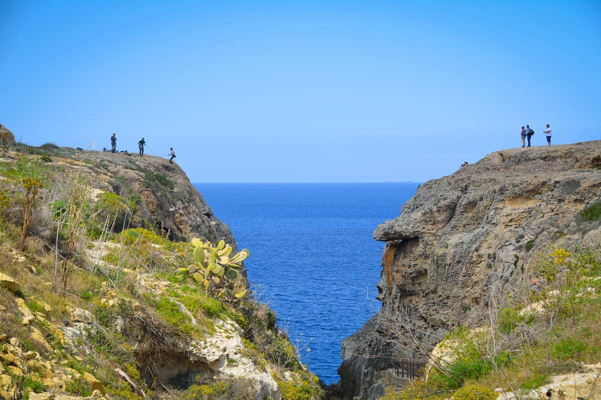 Rock climbing and abseiling in this locations to me appears like incredibly daring and risky. But as you can see, others didn't mind the drop at all, and I am sure they will find this to be one of the most spectacular places to pursue their hobby in Malta.