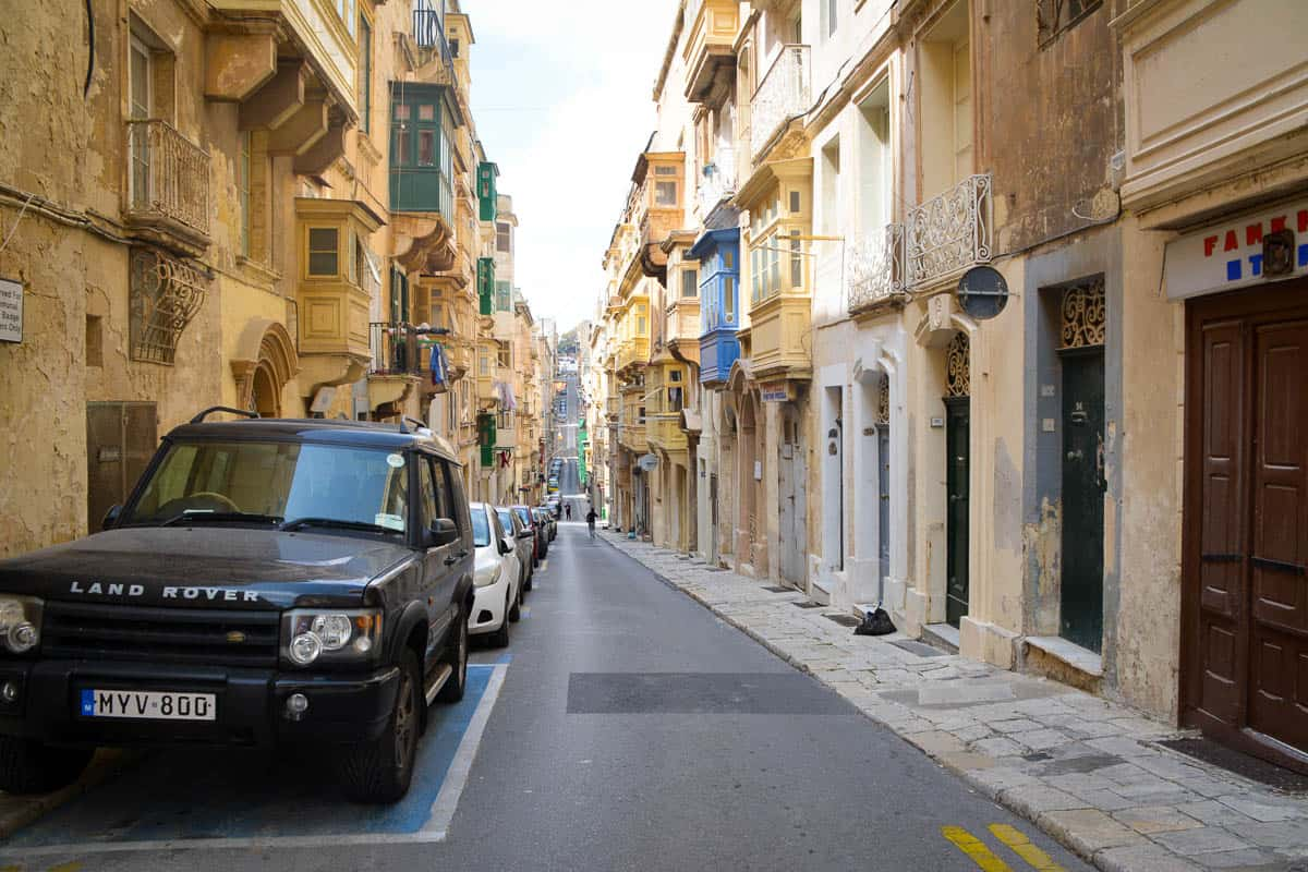 Parking in built-up areas in Malta (pictured: Valletta) can be a nightmare. It is wise to park the car well outside the city centre and walk into the historical heart of these cities or use public transport for the last couple of metres.